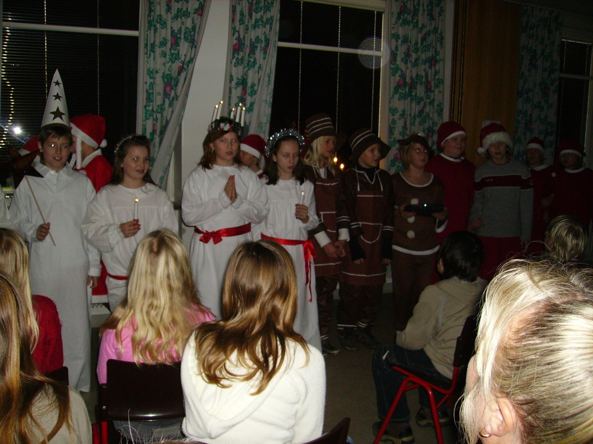 Lucia celebration in my daughters school!