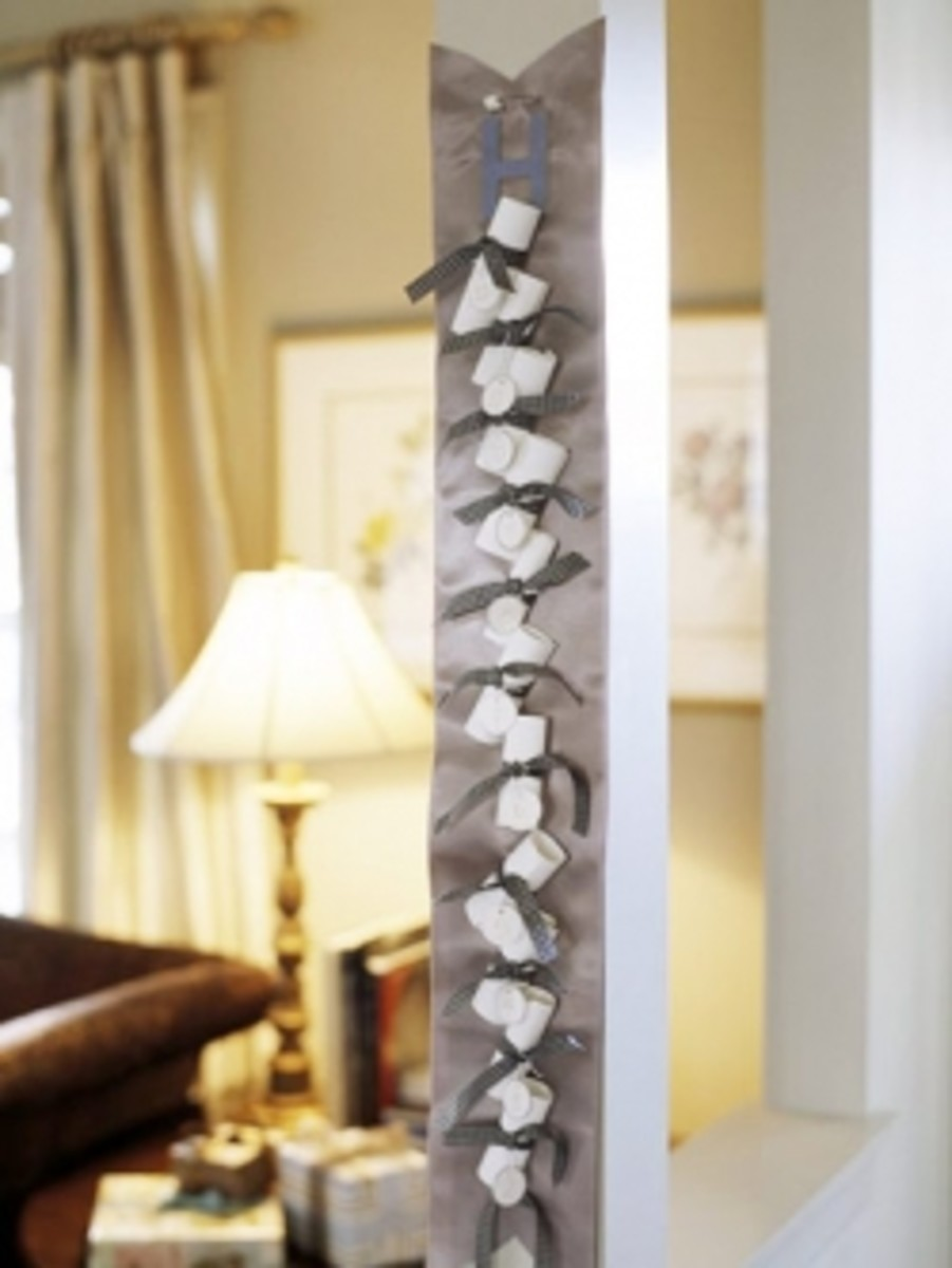 Ribbon Advent Calendar DIY Idea