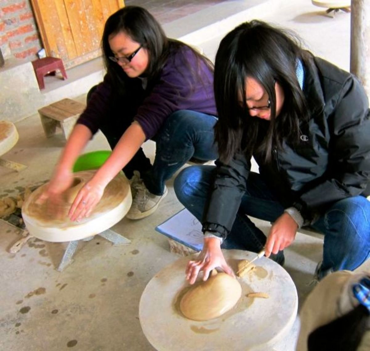 Ladies Doing their Own Pottery