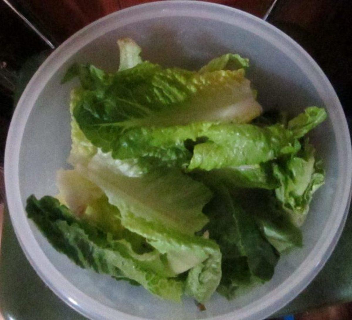 I store lettuce leaves in my crisper to make them last longer.