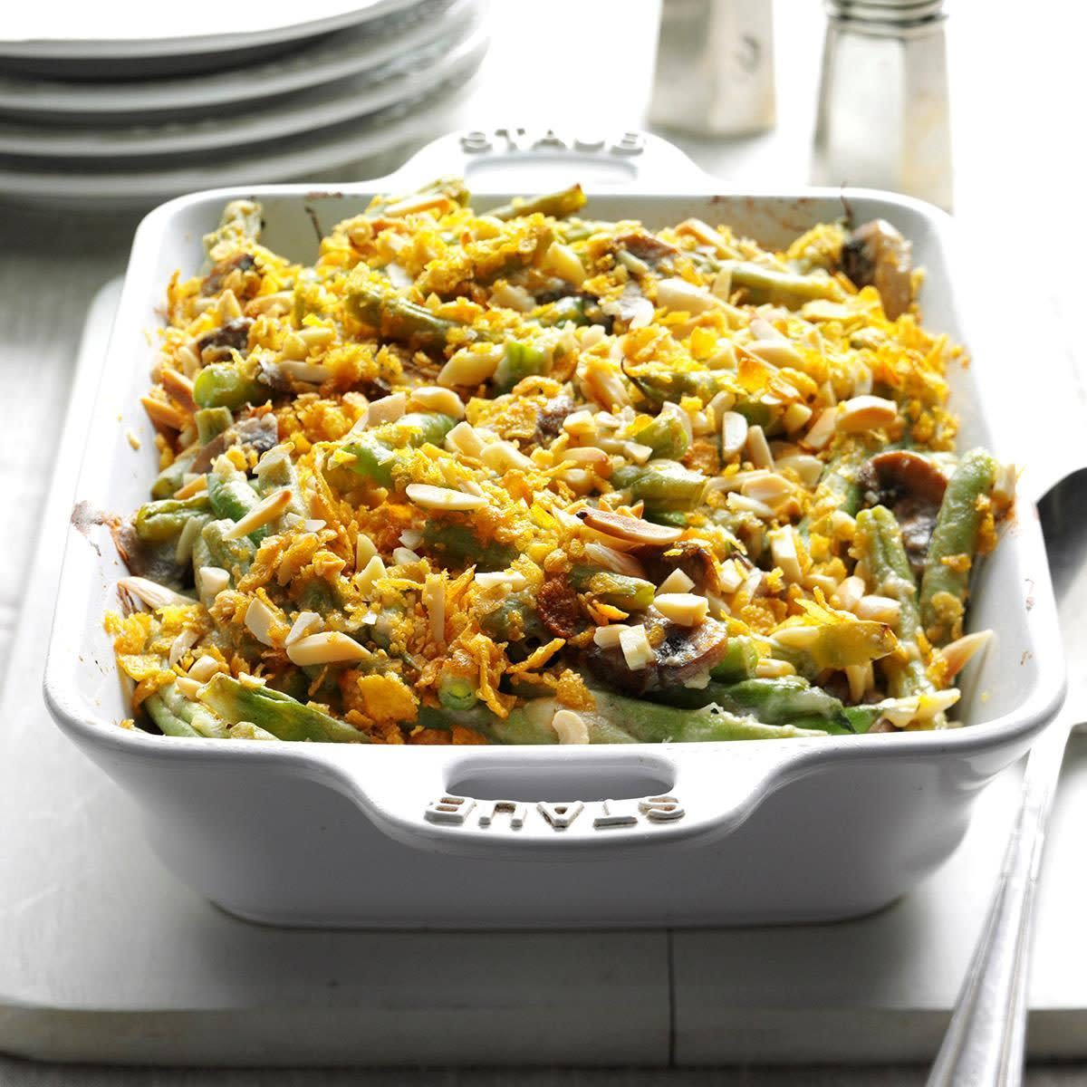 The green bean casserole was launched in 1955. It has remained a staple of holiday meals since then