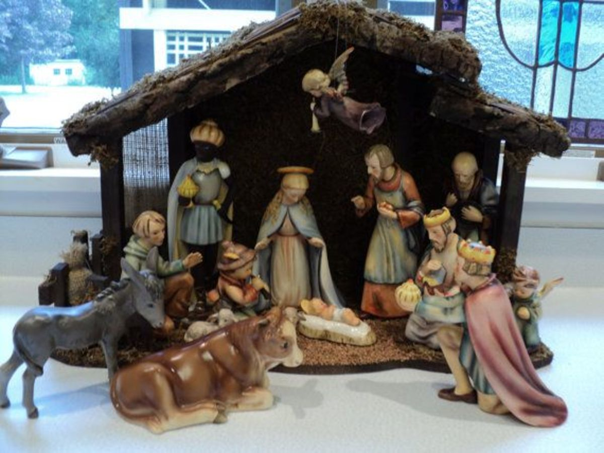Most families had a home nativity. These were cherished and often passed down to the next generation.