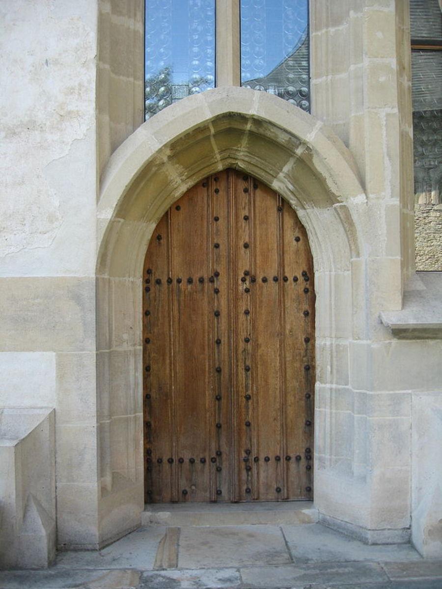 """Gate or Door symbolizing Jesus; """"Manastirea Probota 22"""" (monastery doors)"""