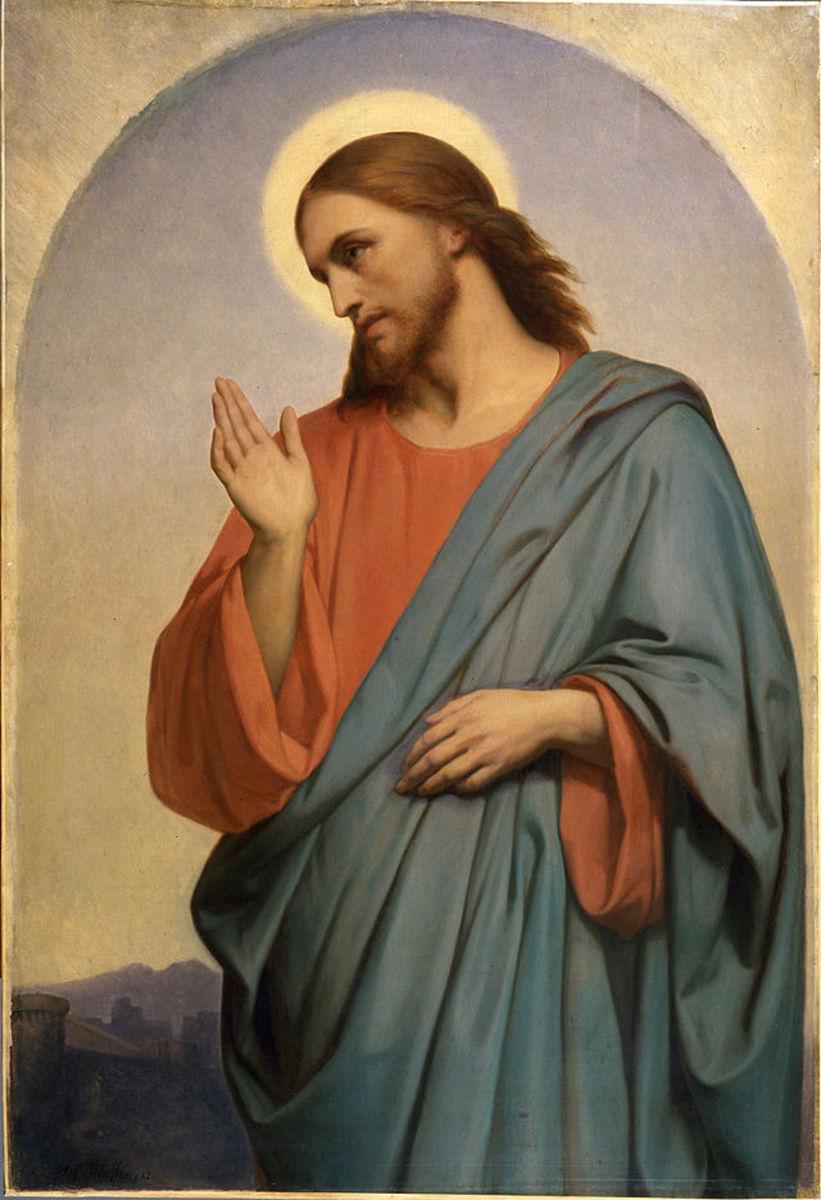 (Jeusu) Christ weeping over Jerusalem by Ary Scheffer (1705-1858), Walters Art Museum