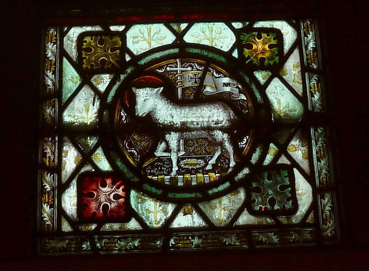 """Lamb"" symbolizing Jesus; St. John Calder Grove interior"