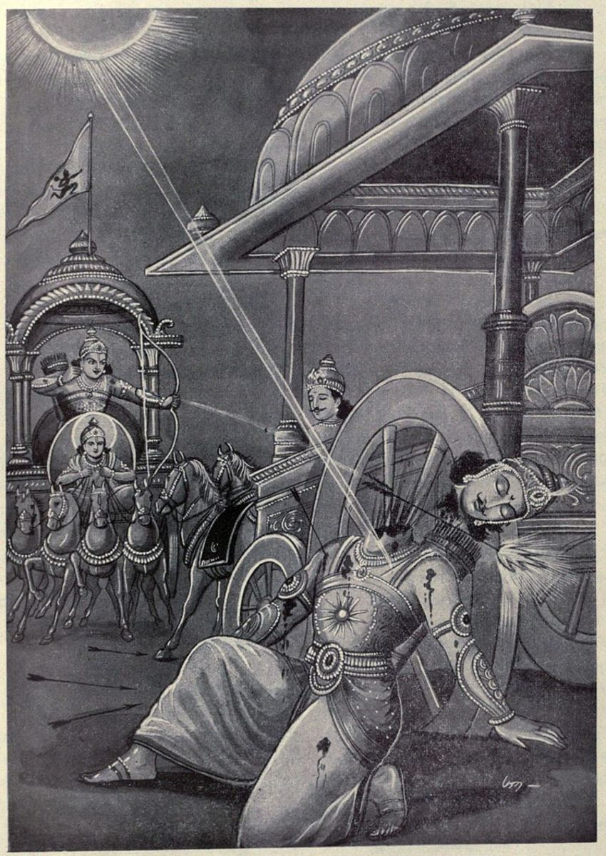 The killing of unarmed, helpless Karna