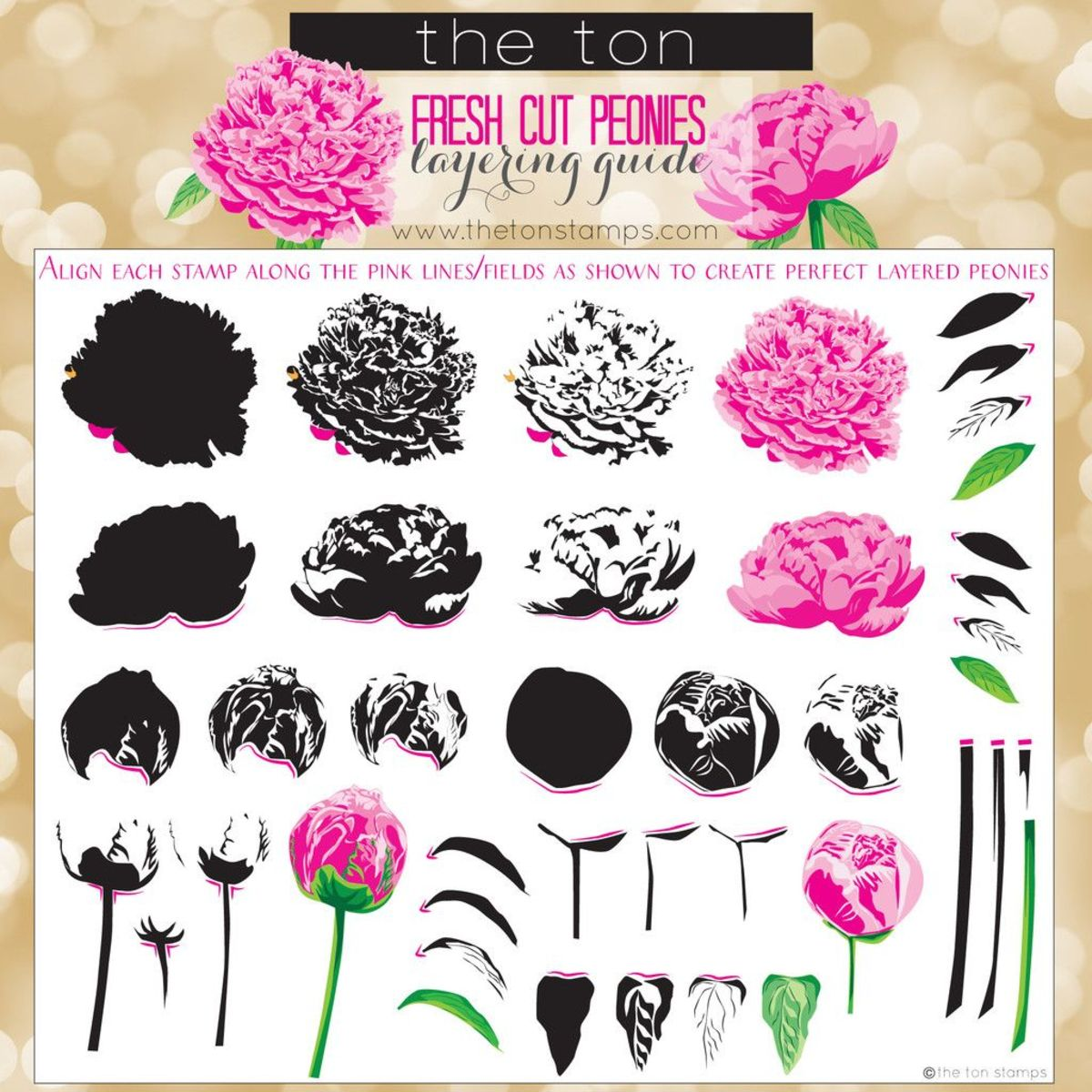 Layered stamp sets consist of multiple stamps for one image that give a lot of detail
