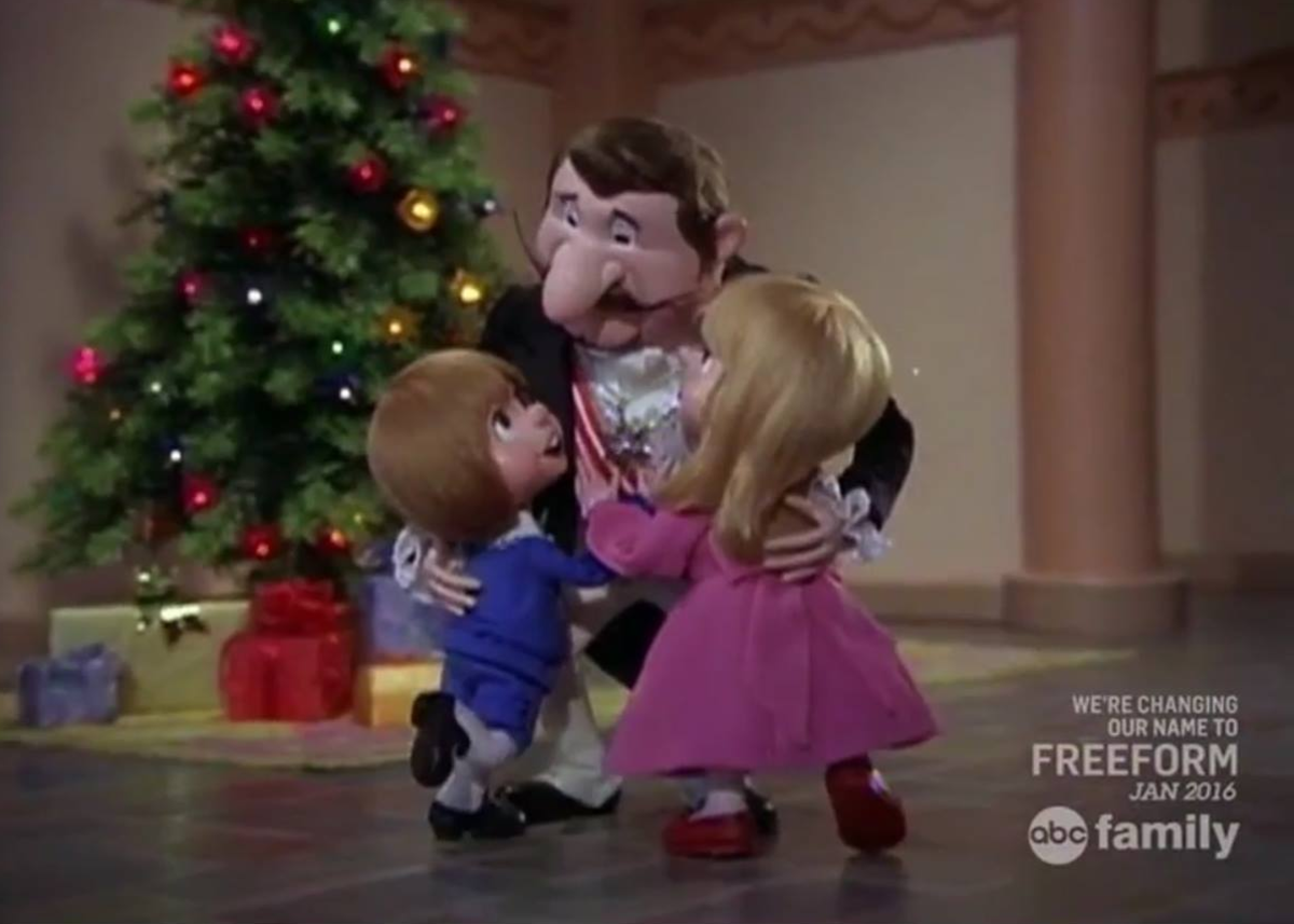 The Duke embracing his children after Pinocchio teaches him to treasure the gift of family.