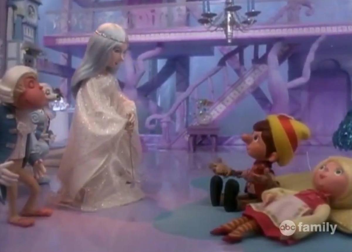 Pinocchio takes Julietta to see Azula, the magic woman who gave him life.