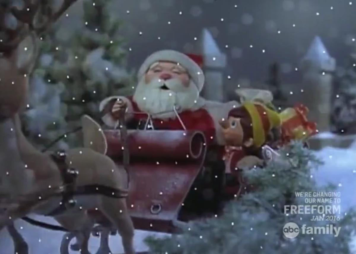 Santa Claus rescues Pinocchio.