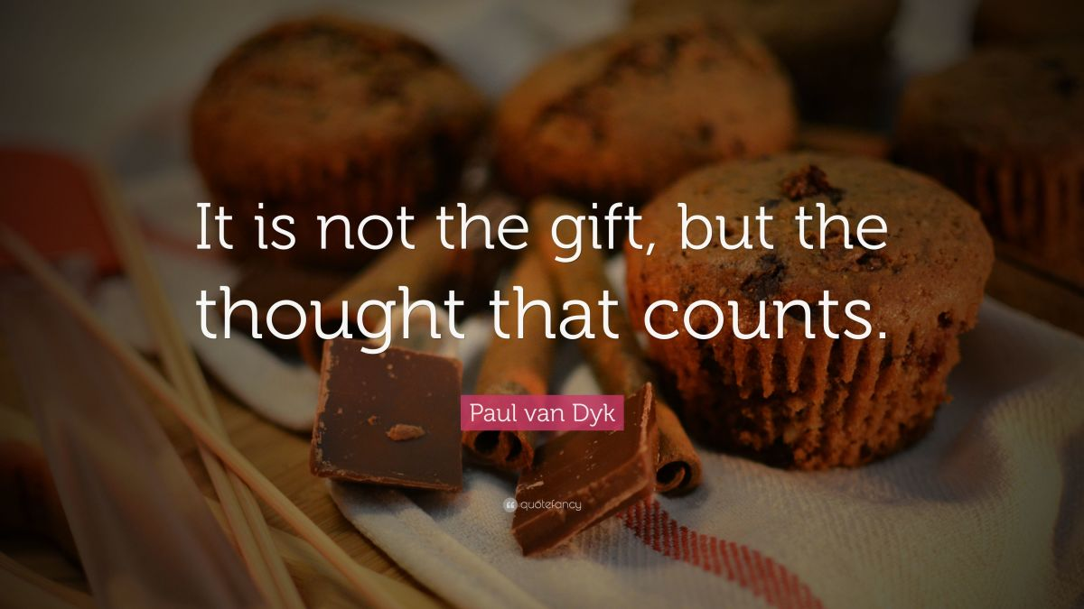 One of the most important details of buying the perfect gift is the thought behind it.