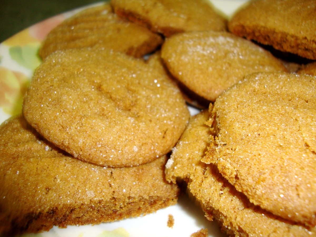 Thick cookies with hints of ginger, cinnamon, and cloves, that sparkle when rolled in sugar.