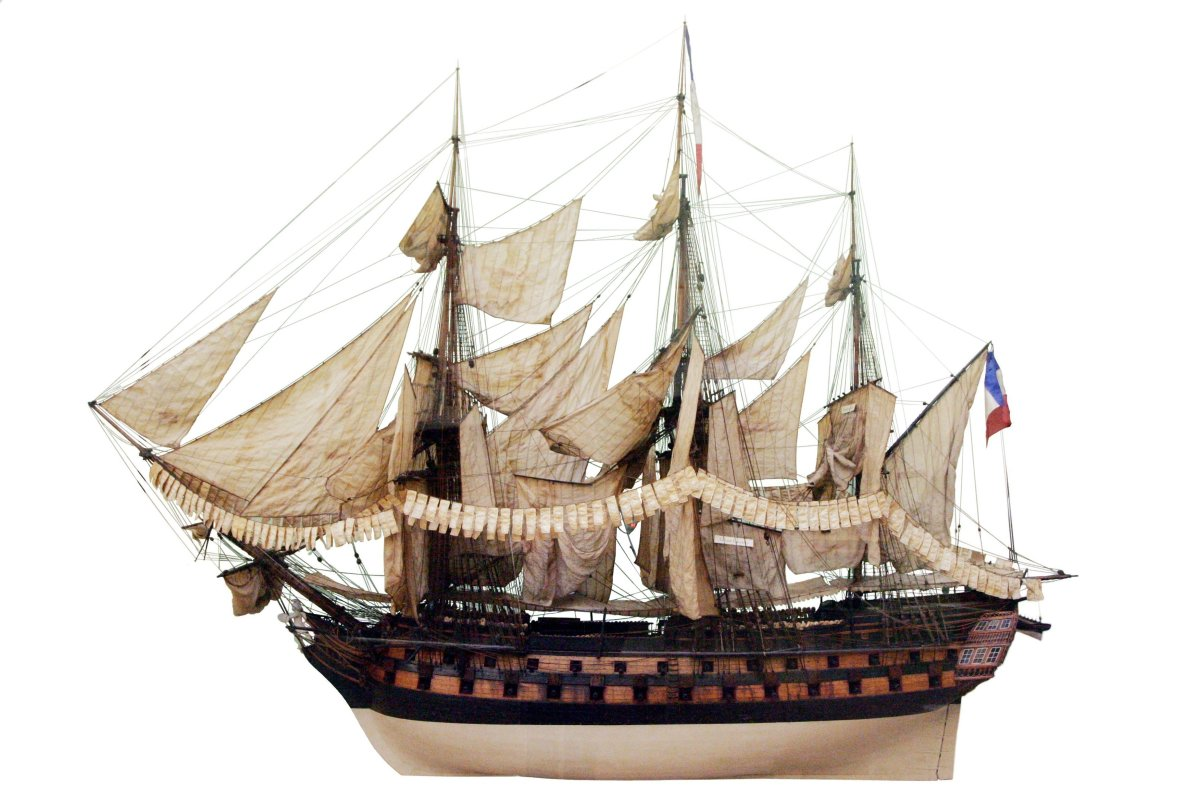 A French Téméraire class ship of the line model, which I used as a template for my project