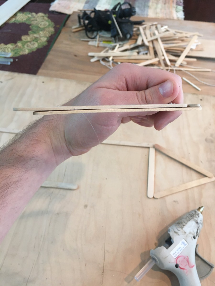 Notice the way the sticks are staggered.