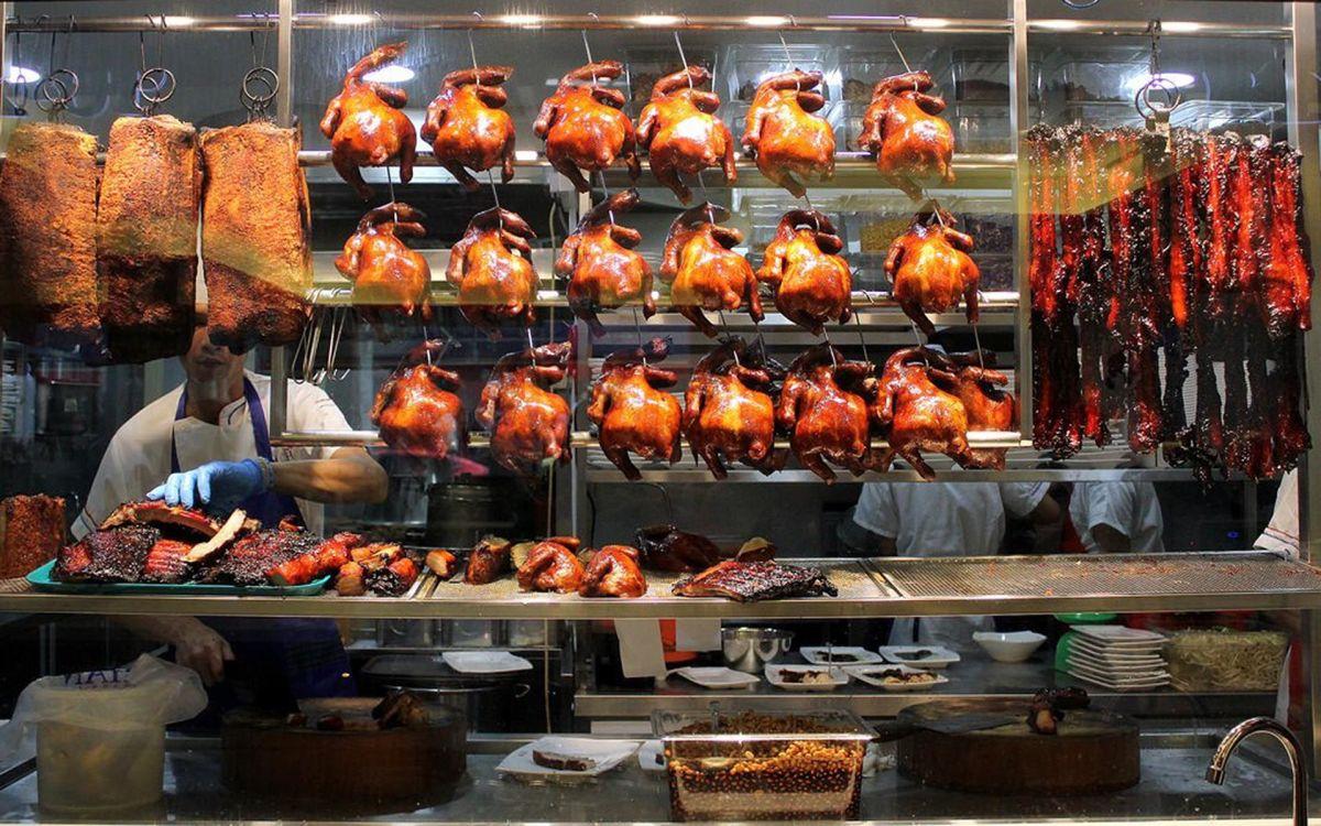A Chicken rice stall in Kuala Lumpur's Chinatown.