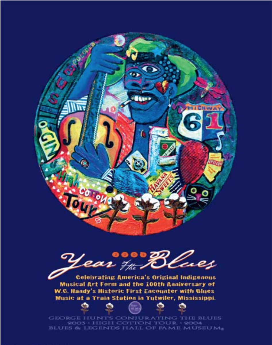 """In 2003 George Hunt became the official artist for the """"Year of the Blues"""" exhibit and tour."""