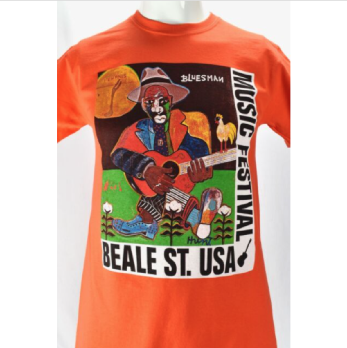 The paintings of George Hunt have graced the surface of many T-shirts. They have also been the artwork for the official poster of the Memphis in May Beale Street Music Festival.
