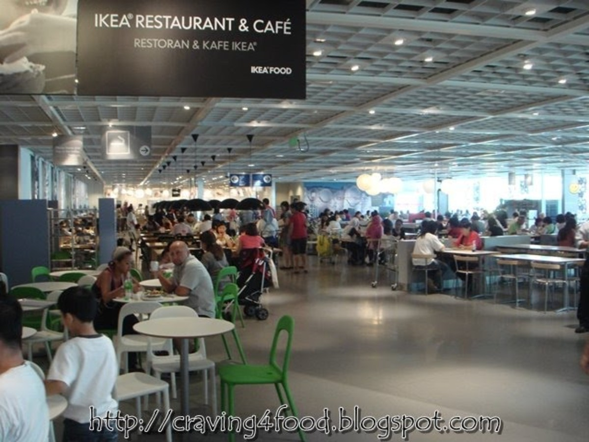 An almost packed Ikea Restaurant in Malaysia.