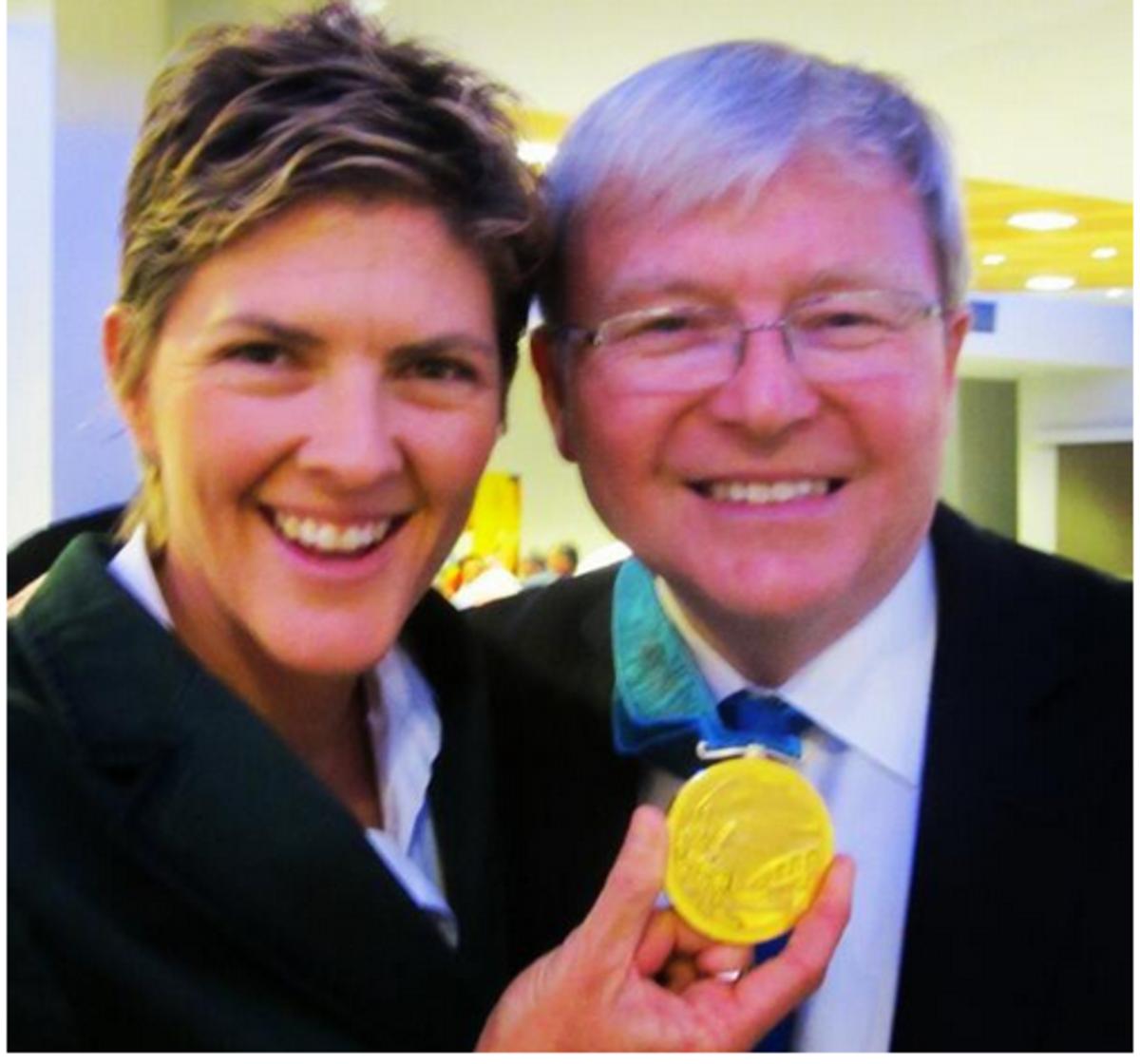Kevin Rudd's selfie