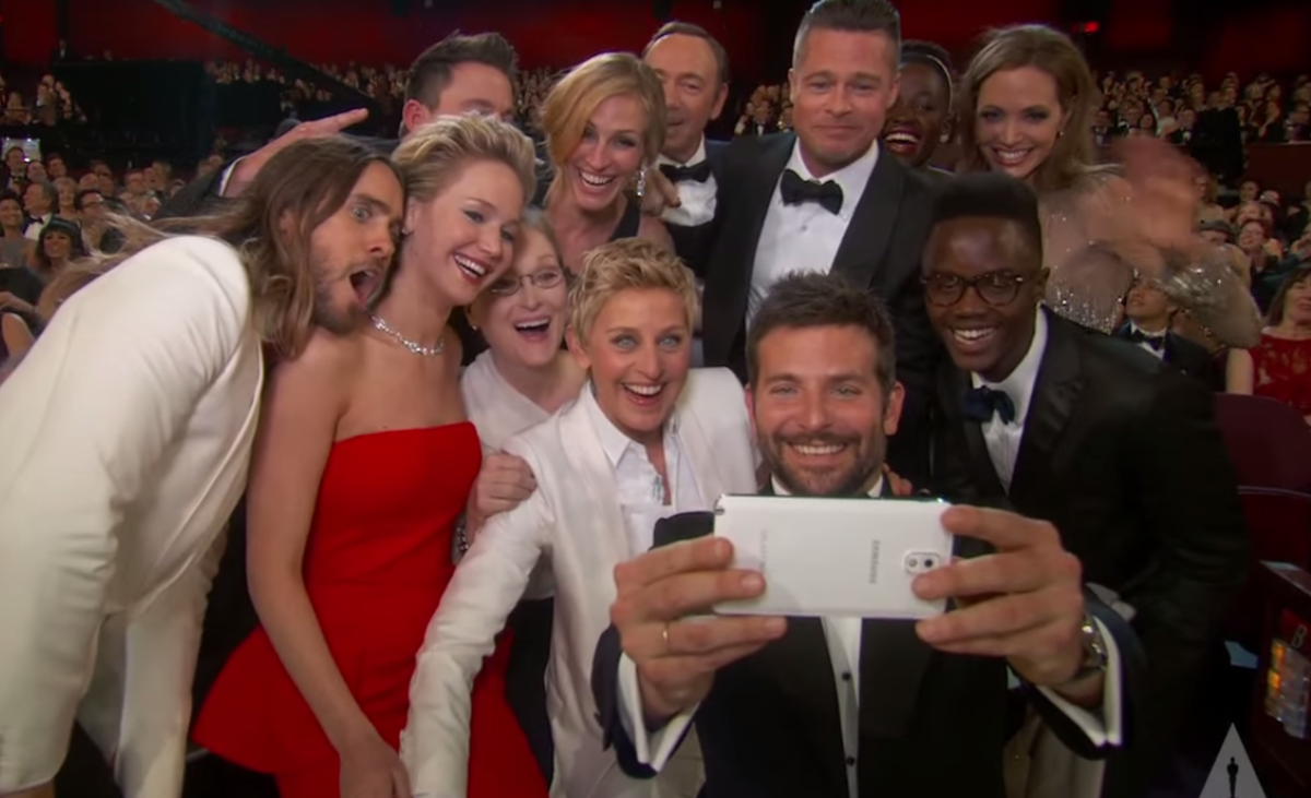 Ellen's selfie on the Oscars