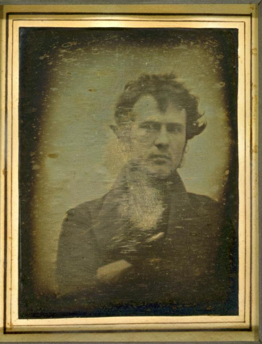 Robert Cornelius' self-portrait taken in 1839, recognized as the first selfie