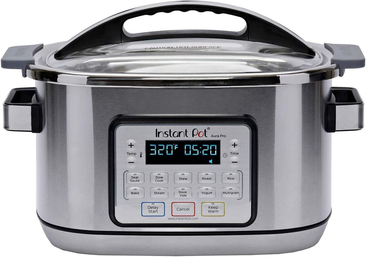 Instant Pot Aura Pro Multi-Use Programmable Slow Cooker with Sous Vide, 8 Quart.