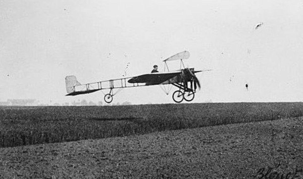 The Blériot XI, the first plane to drop bombs on a target during warfare.