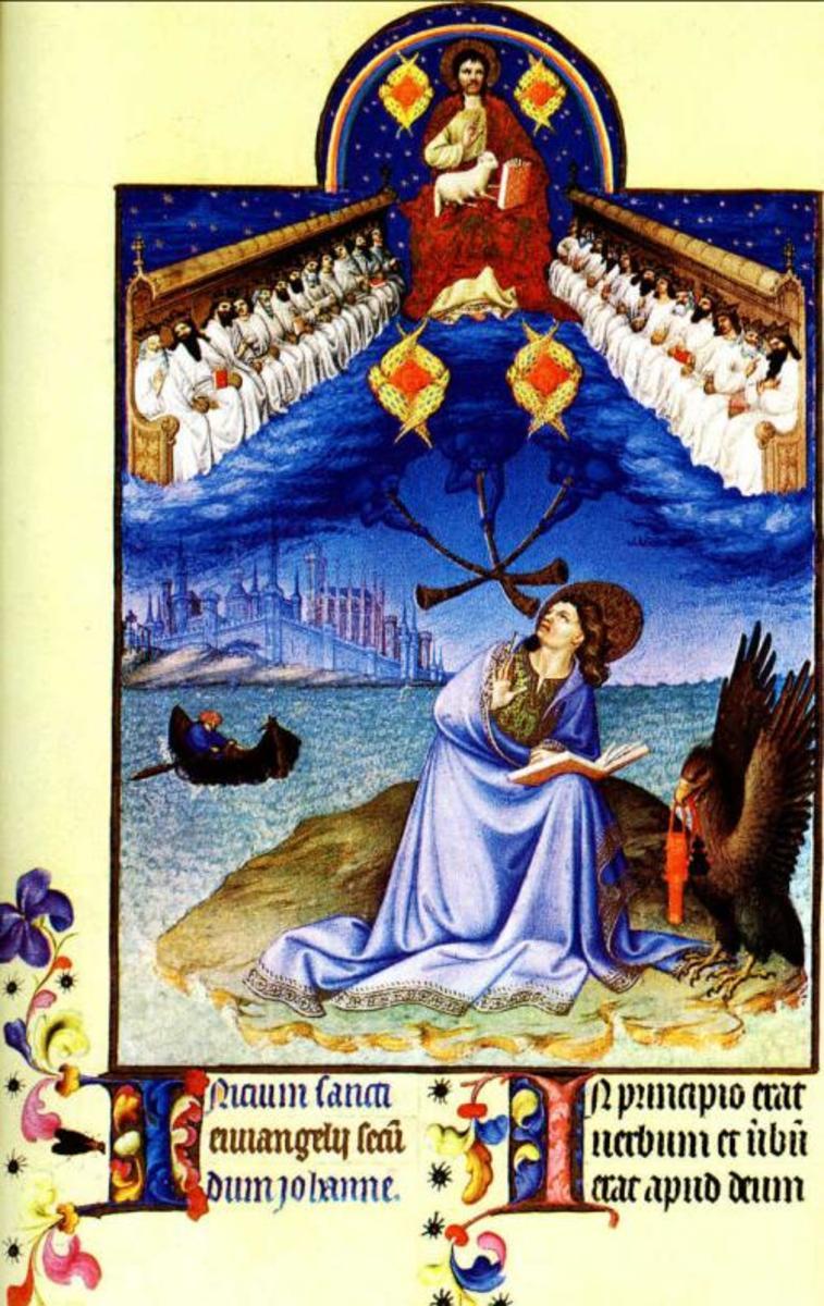 Saint John on Patmos, Van Limburg Brothers (1375-1416)
