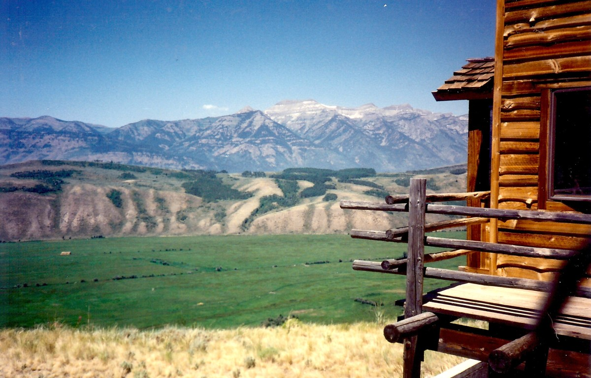 The Teton Mountains viewed from our cabin at Spring Creek Ranch on top of East Gros Ventre
