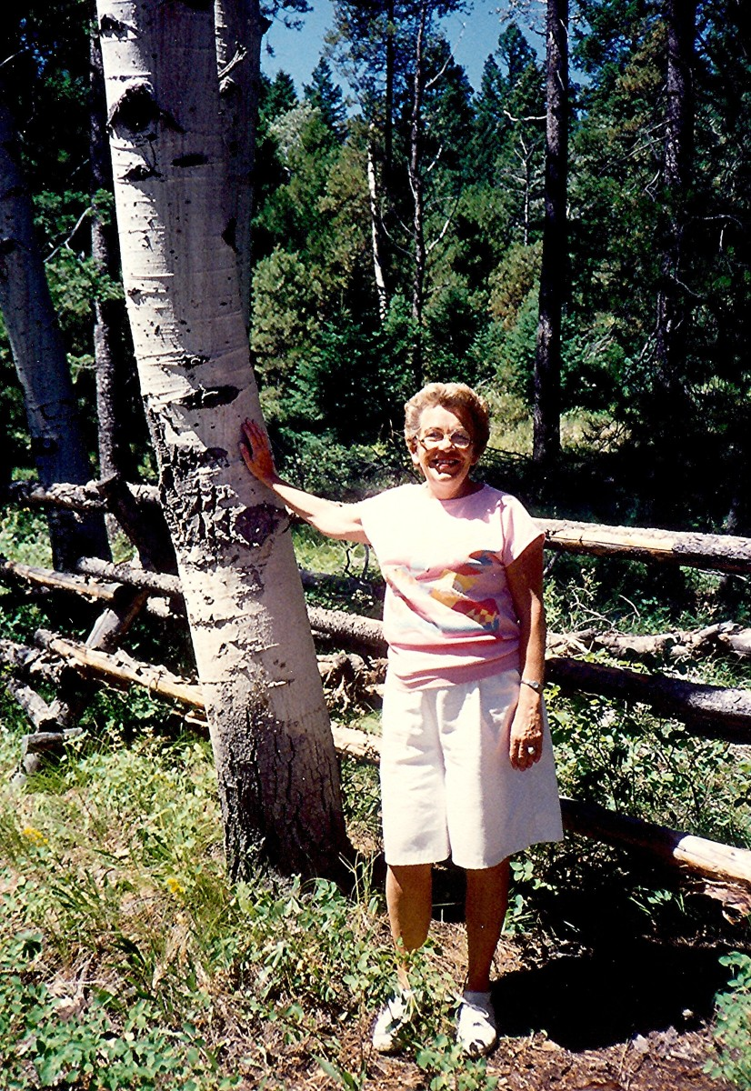 My mother near Teton Village