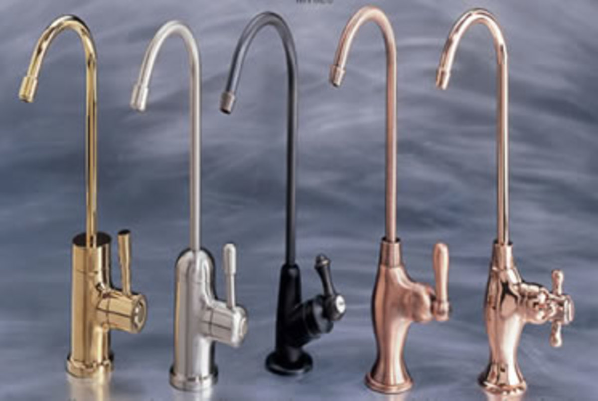 decorative faucet options in five different finishes
