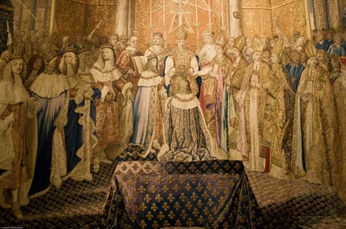 The coronation of Louis XIV of France