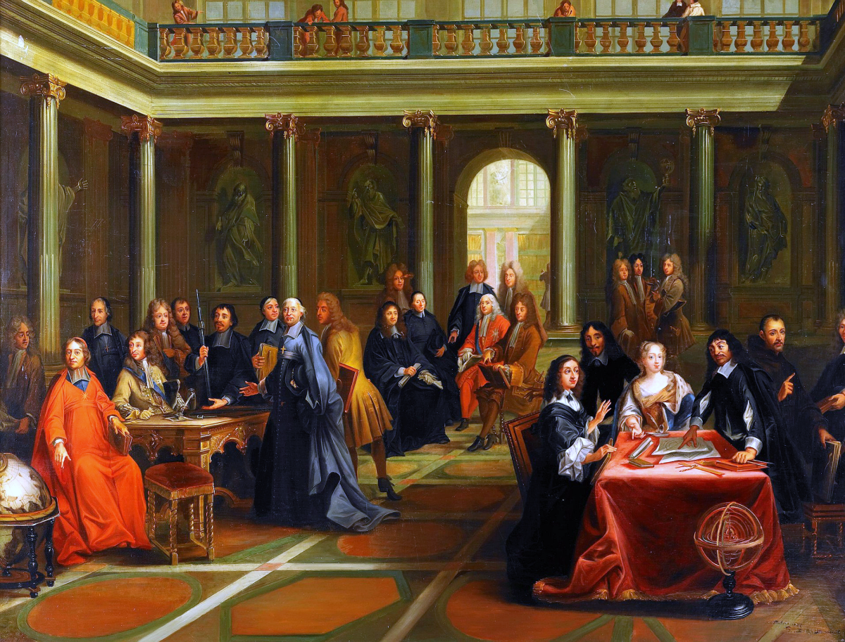 Queen Christina of Sweden debates with Rene Descartes