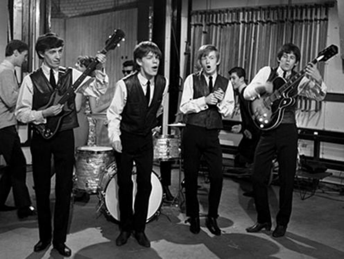 The Rolling Stones 1963 with Beatle boots.