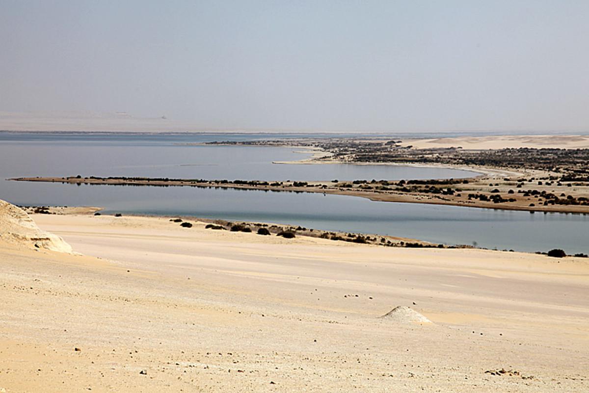 The Iower Lake of Wadi Al Rayan.