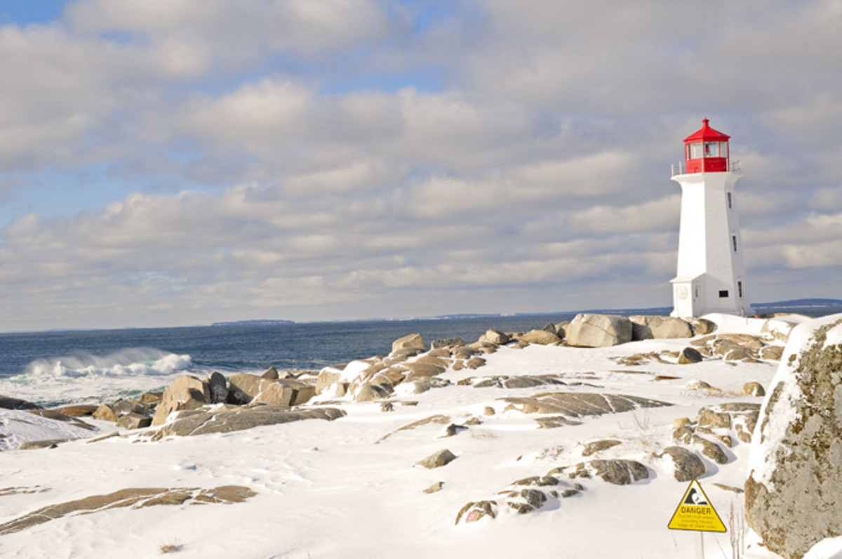 Peggy's Cove in Winter