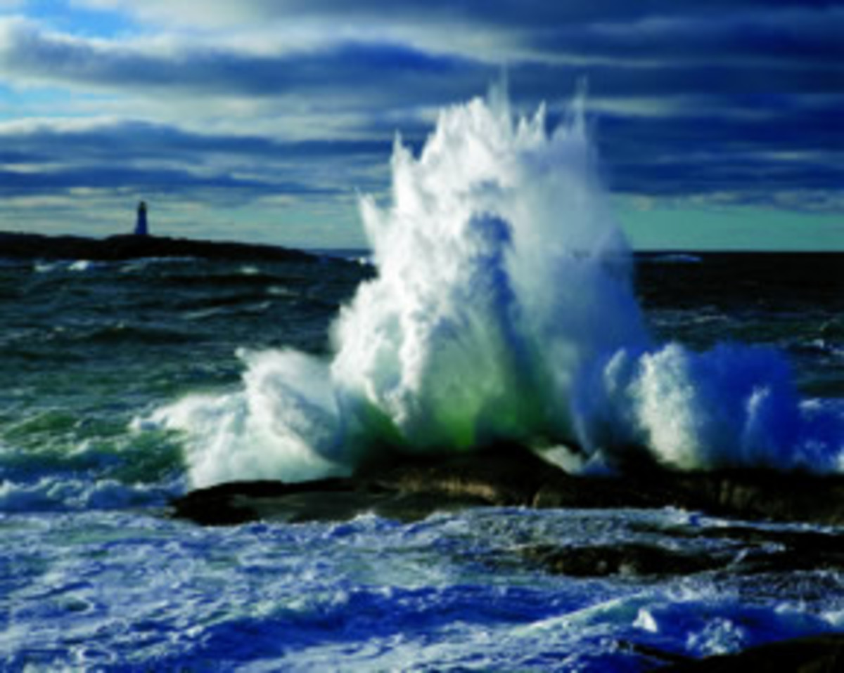 Peggy's Cove, Nova Scotia, Where Waves and Rocks Collide, Washed by Endless Tides