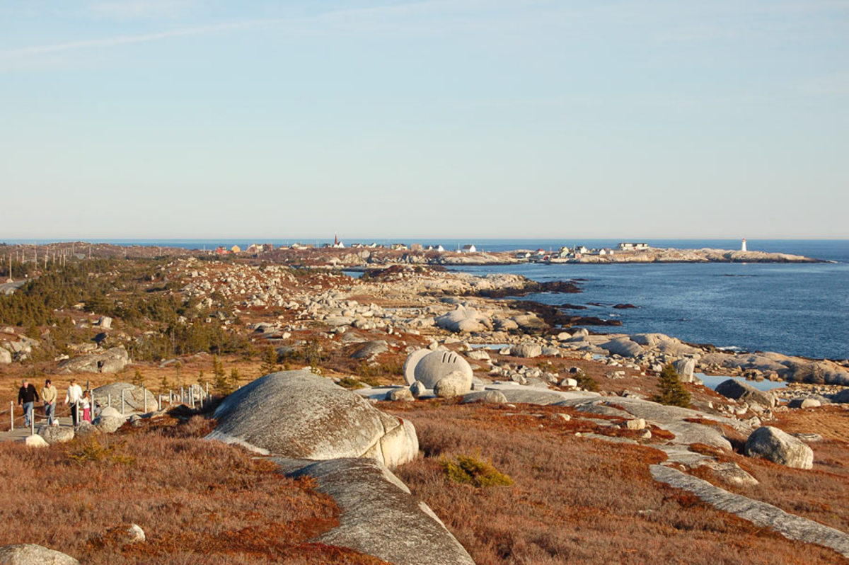 Peggy's Cove in Summer as seen from the Memorial site.