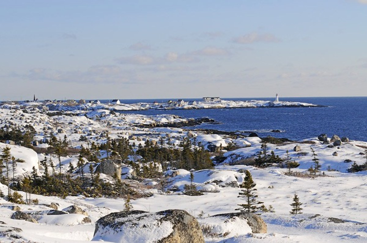 Peggy's Cove on a Serene Winter's Day