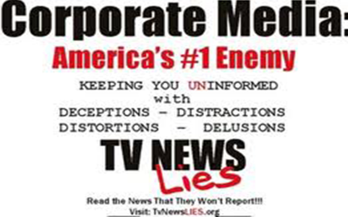 The myth-making, disinformation and outright falsehoods of the mass corporate media often astounds us.  Polls show that the corporate media is no longer trusted by three-quarters of Americans.  We see that as very good news.