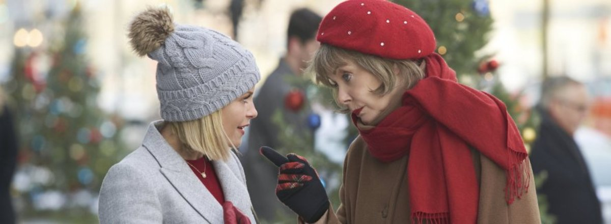 Candace Cameron Bure and Jean Smart play Noelle and her guardian angel in A Shoe Addict's Christmas the movie