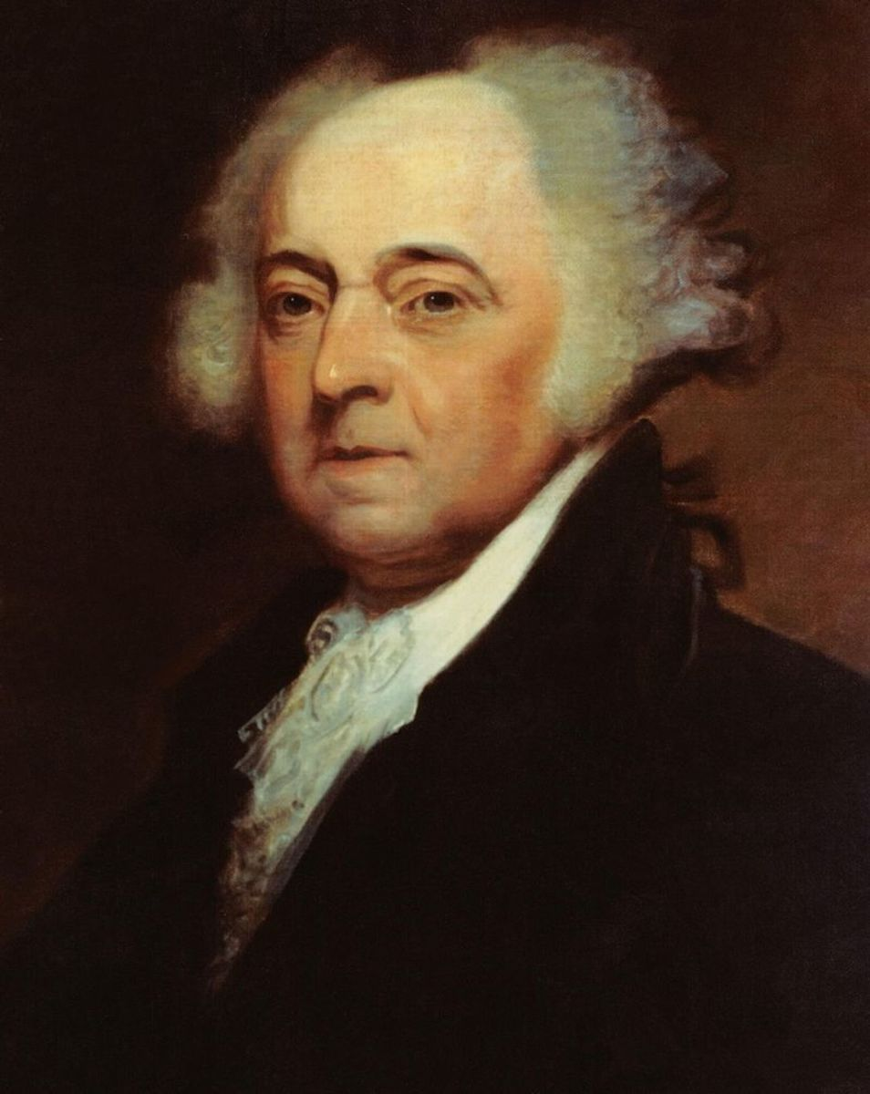 Portrait of John Adams as second president of the United States.