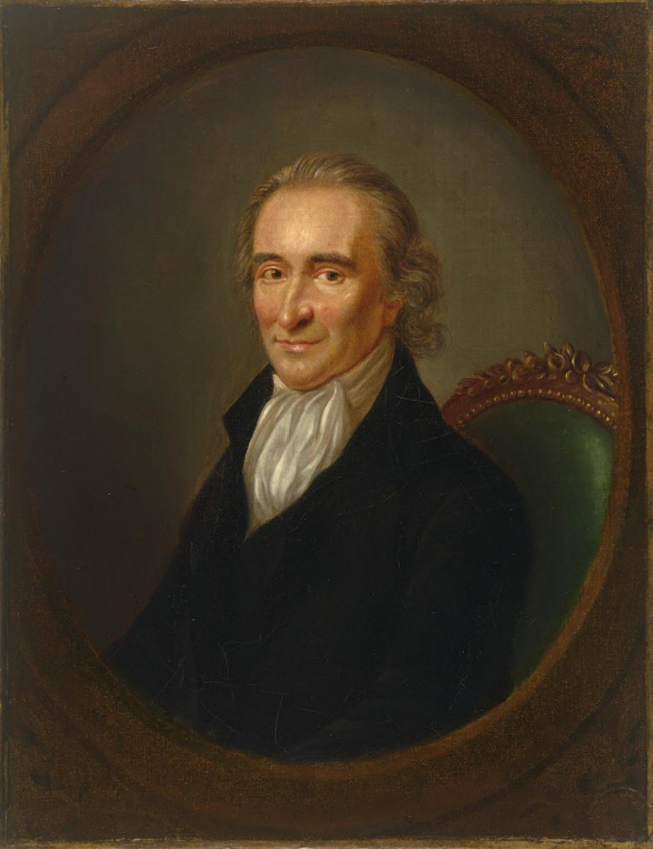 Portrait of Thomas Paine circa 1792.