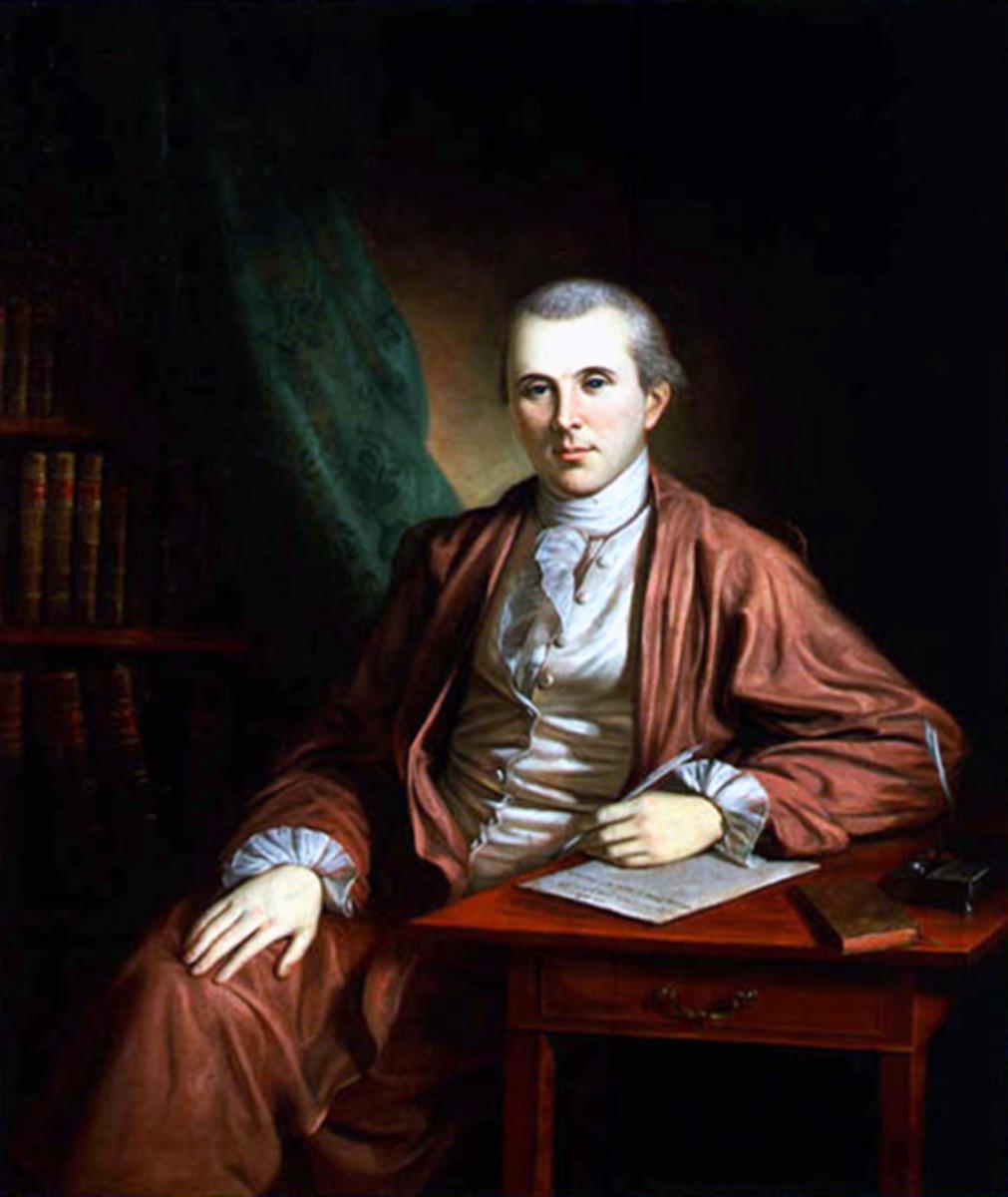 Portrait of Dr. Benjamin Rush at age 37.