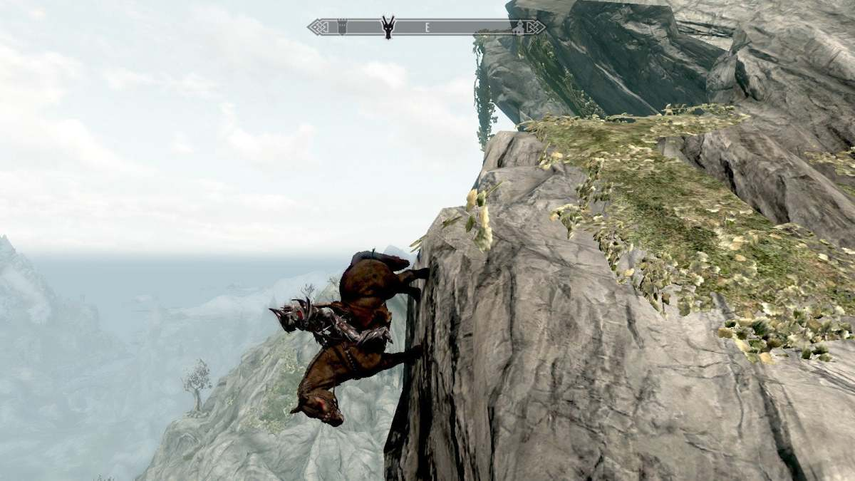 An example of the physics in Skyrim