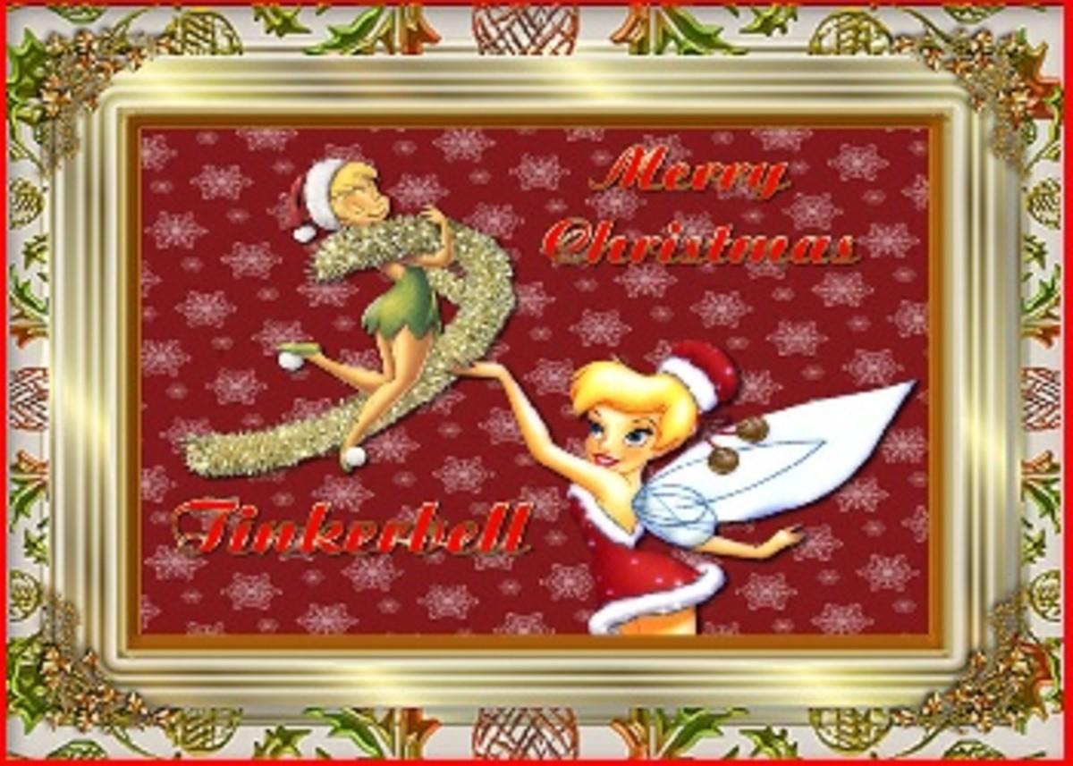 tinkerbell christmas card