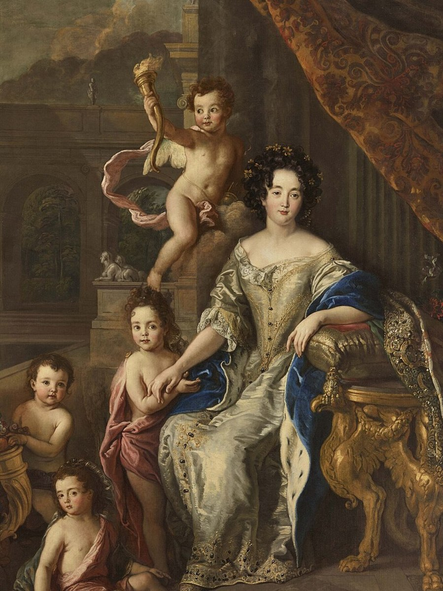 King's mistress Montespan and children