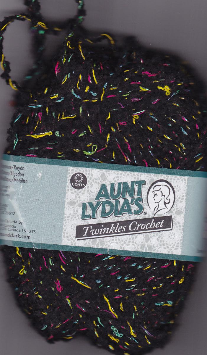 Twinkle yarn - black