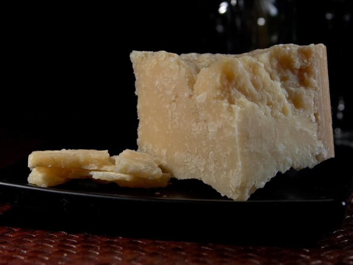 Wedge of Pecorino-Romano cheese