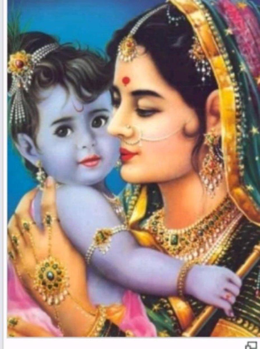 Maya with her son, the Buddha